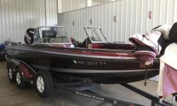 Very nice 2007 Ranger 620vs with Evinrude 225 E-TEC H.O and Mercury 9.9 Prokicker Loaded with equipment including Cover, Bimini Top, Rear Casting Deck, Stereo, Lowrance Hds-9 & Helix 9 at console, with a helix 9 and Lowrance lms 570 at the bow.