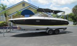 ,This 2700  Regal bow rider is in excellent condition with only 257hrs with trailer, dual bimini tops, large platform, upgrade stereo, Garmin GPS, VHF radio and much more like front and rear filler cushions, BBQ grill, fresh water system w/