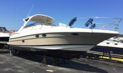 Just reduced $10,000.00. Brand new camper enclosure! Aggressive styling, high tone elegance married to Regal's OceanTrac Hull design that delivers speed and brilliant offshore handling. Even in heavy conditions, the 3760's ride is softer and smoother than
