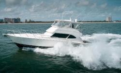 """Finn McCool"" is a one-owner, low hour Riviera 58 Flybridge 2007 that has been well-maintained and loaded with options and upgrades. This boat is one of Riviera's top performers: her upgraded CAT C-30's offering a 32 knot cruise and a top speed of close"