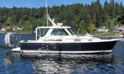 This 34 Hardtop Express model was purchased new at the 2007 Seattle Boat Show and spent its first 7yrs on Lake Washington at the owner's home dock.  She received regular maintenance and tasteful upgrades to her appointments by the owner's