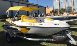 The most unique, exhilarating boat on the water! Includes Bimini top, Spare Tire, Life Jackets, Paddle, Snap Down Carpet, Mooring cover, Battery Switch. Always garage kept. Nominal Length: 15.3' Length Overall: 15.3' Engine(s): Fuel Type: