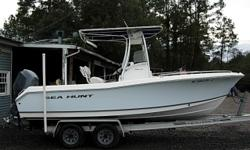 21 Ft Center Console, 2007 150 HP Yamaha 4- Stroke F150TXR, T-Top with electronics box, Garmin 178C Combo Unit, Premium Sony Stereo CD Player, Dual Batteries with switch, Hydraulic Steering, SS Prop, Trim Tabs, 2006 Wesco Dual Axel Aluminum Trailer, Above