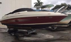 Rack stored, Very popular Sea Ray Sundeck. Cruise, water ski, boogy board, barbeque at the sandbar. Just have fun. Bimini top, cockpit & bow covers, snap out cockpit carpeting, GPS, stereo, (2) tables, barbeque grill. Trailer included. Includes Coast