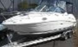 2007 Sea Ray 240 Sundancer w/Trailer This is a Freshwater Only 240DA that has about 250 hours on a Mercruiser 5.0l MPI Bravo III. It is equipped with Bimini Top with Camper Canvas; Snap In Cockpit Carpet; Cockpit Table; Wet Bar w/Sink; Butane Stove; Pump
