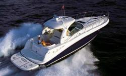 Low Hour WHITE HULL VESSEL Bow Thruster + Cockpit A/C MUST GO -- First $279,000 Buys this Boat!!! *****Call for More Details & Photos***** Engine(s): Fuel Type: Diesel Engine Type: Inboard Quantity: 2 Hull color: White