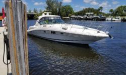 Upgraded electronics, and sound system, Sat-TV. Cummins QSC 500's(600 hrs) Bring All ReasonableOffers!! Ready for her new owner is this very well maintained2007 Sea Ray 44 Sundancer. Recent Maintenance: 2018