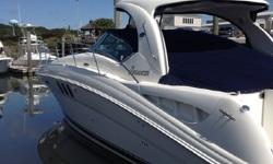 2007 40' Sea Ray Sundancer -- Immaculate Condition -- Low Hours on Cummins Diesels****Loaded with Upgrades: Bow Thruster, Raymarine E120, Sat TV, Spare Props + Much More!!****Owner Moving Up -- Call with an Offer Today!!;Key Features:;Canvas, Dash Cover
