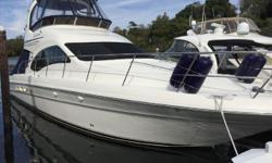 'SUMMER SANITY VI' is a Pristine 44' Sea Ray Sedan Bridge that is 'Turn-Key' from Bow to Stern. Always kept in the NorthEast and lightly used for only a few months of the year.Loaded with Upgrades: Hydraulic Swim Platform, Bow Thruster, Twin Raymarine