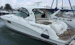 2007 44' Sea Ray Sundancer -- White Hull Vessel with 435 Original Hours on Cummins QSC-500 Diesels -- Excellent Condition Inside & Out Upgrades Includes: Teak Flooring in Cockpit, Helm Area & Swim Platform, Bow Thruster, Cockpit A/C + Much More!! FRESH