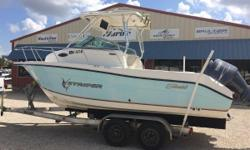 Just in is this 2007 Seaswirl Striper 210 walk around, 21 ft. Yamaha f150 four stroke outboard with 1,025 hours. Has plenty of storage in the cockpit and a huge live well in the back. Cuddy cabin hasa V berth that sleeps two with ample storage under