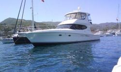 The Silverton 50 Convertible is a spacious fishing / cruising boat that is perfect for a family.  It has three staterooms, two heads and a comfortable salon.  This boat is powered by two Volvo D12 diesel engines that have been very well