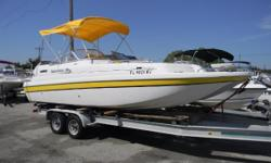 2007 Splendor Cat 24 deck with a NEW Mercruiser 5.7L The hull design allows this boat to compact air as it travels down the inside of the tunnels.  This design helps push up on the hull at takeoff, thus forcing the craft up on plane very quickly with