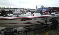 2007 Stratos 285XL Bass Baot with V-Max 150hp two stroke motor and matching custom bunk trailer. Package includes travel cover, 24V trolling motor and Lowrance X52 hydraulic steering, on board battery charger, st. steel prop,cheapie cover Good condition.