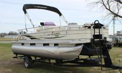 2007 SunTracker FB21 with Mercury 90 ELPT 4S and Trailstar Trailer The SUN TRACKER FISHIN' BARGE 21 Signature Series pontoon combines creature comforts and serious fishing features to create an exceptional family-fishing boating value. A lockable