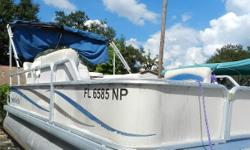 2007 Sweetwater 1780 Pontoon Boat with 50 horse power Yamaha two stroke outboard. No trailer. Equipped with a mooring cover, running lights, table, bimini top, and stereo system. Engine runs great! Ready to hit the water. Nominal Length: 17'