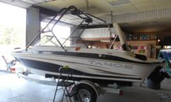THIS UNIT HAS THE 190HP V6 SKI ENGINE! SKI/WAKE TOWER WITH SPEAKERS, SPORT INTERIOR, ALL SERVICING ALREADY DONE AND LAKE TESTED, SPACIOUS INTERIOR, $350 FREE WARRANTY COVERAGE FOR A MONTH INCLUDED NO CHARGE, BUY BOAT ALONE FOR $11995, OR WITH A BRAND NEW