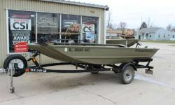 2007 Tracker 1448ML and 2007 Bear Trailer 2007 Tracker 1448ML and 2007 Bear Trailer is new to our consignment lineup. This 2007 is in great shape with a carpeted floor. Also included is a MinnKota 40 Bow Mount Power Drive, 2 Seats, Swing Tongue for the