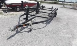 24 ' pontoon trailer, in good condition. We sold the pontoon that was sitting on it. VIN Plate worn off, so there's not any information on the trailer. Nominal Length: 24' Length Overall: 24' Beam: 8 ft. 0 in.