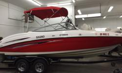 SOLD 2007 Yamaha SX-210 Hull color: RED/WHITE Stock number: USED-996