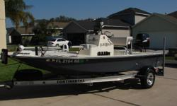 An excellent example of the semi-custom Bonefish Backwater 18. The unique tunnel hull design allows operation in the skinniest of water. ideal for the flats or the lake. A very nice turn key package in very nice condition. Take a look at ALL ***17