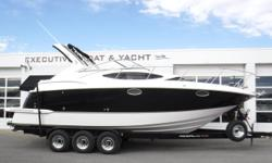 Vessel has ONLY been in fresh water! Twin Volvo Penta 5.7L Gi, 300 hp fuel-injected engines, aprx 291 hours Twin Volvo DuoProp sterndrives w/stainless props Engines & sterndrives were fully serviced in 2017 2010 Metal Craft 3-axle trailer w/electric