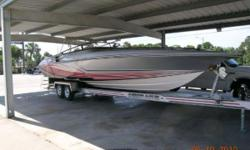 """More Category: Powerboats Water Capacity: 0 gal Type: Performance Holding Tank Details:  Manufacturer: Fountain Powerboats Inc. Holding Tank Size:  Model: Lightning Staggered Passengers: 0 Year: 2008 Sleeps: 0 Length/LOA: 35' 0"""" Hull Designer:  Price:"""