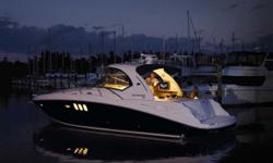 MAJOR PRICE REDUCTION !!The epitome of drop dead gorgeous hull design. All the newest styling features can be found on this sport yacht including hardtop, oversized hullside glass and the newest interior treatments and wood finishes. She has had very