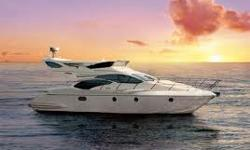 Newly Listed, Original Owner Azimut 2008 43 Fly Bridge with 474 hours on twin 425hp Cummins Diesels. She is lavishly styled and well appointed with two staterooms, two heads plus pull out sofa bed in the spacious leather trimmed salon. Additional features