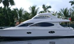 Description The Lazzara 68 is an extremely popular yacht offering the accommodationsof yachts far larger in size while remaining small enough to be operated by her owner. Lazzara yachts are built to extremely high standards and all of their interiors are