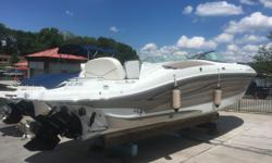 Absolutely beautiful 08 Azure 298 deck/ Bowrider with 496 Mercruiser (375 hp) and bravo III drive. Corsa ? silent choice exhaust? . Extremely well optioned and well kept FRESH WATER / indoor stored boat. You will not find a cleaner better optioned deck