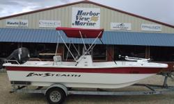 2008 Bay Stealth 2194 Skiff in Pensacola, Florida. Skiffs by Baystealth fill a need for less expensive, shallow running boat that will perform with lesser horsepower motors. The shallowest possible designs are wide flat bottoms. Wide flat bottoms are the