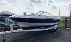 Do not miss out on this spacious open bow boat form one of the most popular manufacturers out there, Bayliner boat company. This boat is a wonderful example of a perfect family compliment for your summer activities. All set up with a V-8 for power, it can