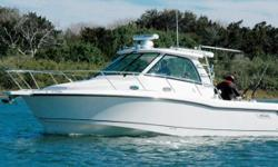 This 50th Anniversary edition Boston Whaler 345 Conquest was originally commissioned at Mission Bay, California where she spent her first three seasons and ~120 hours of light use.  She was purchased in the spring of 2011 and transported to