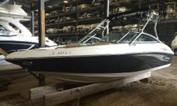 With its distinct lines, bold new graphics and sophisticated interior the 217 includes significant standard features like an extra large molded-in swim platform, a convenient walk-thru transom, a durable fiberglass floor with snap-in carpet, a dedicated