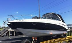 Just reduced from $89,900. This boat is equipped with camper enclosure, garmin gpsmap 530, raymarine vhf radio, cockpit carpet, electric stove, generator, spotlight, trim tabs, anchor windlass, underwater lights, radar arch, microwave, cockpit fridge,