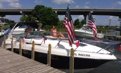 2008 Chaparral in Pensacola. Always stored inside. No bottom paint. New elbows and risers. Fully serviced and detailed. Ready for the summer season. Twin motors, AC, heat and 5 KW Kohler Generator. Twin Mercury 5.0 MPI Bravo 3 Duoprops. Nominal Length: