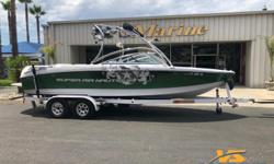 Call today for details 805-466-9058 or email shawn@vsmarine.com or kris@vsmarine.comWith the convertible rear bench, there are up to six seats that face the rear. And with the transom stepover -- placed uniquely right down the middle of the sun pad -- the