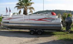 150 HP Yamaha Fourstroke, Only 150 Hrs., Hydraulic Steering, Lifting Strakes, AM/FM/CD Stereo, Bimini Top, Front and Rear Fishing Chairs, Two Live Wells, Sink, Pop Up Changing Room, New Interior, Tandem Axle Galvanized Trailer, Excellent Condition Beam: 8
