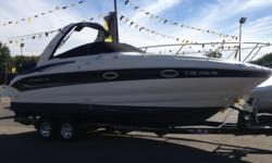 SOLD 2008 Crownline 270CR 2008 CROWNLINE 270CR WITH MERCRUISER 350 MAG! CURRENTLY IN DETAIL.. Hull color: White/Black Stock number: CON07