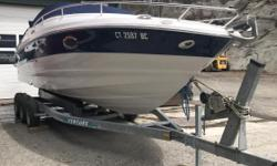2008 Crownline 255 CCR Cuddy Cabin White/ BlueMercruiser 350 Mag 300 HP Inboard/OutboardGreat Condition Fresh Water Only Engine(s): Fuel Type: Gas Engine Type: Stern Drive - I/O Quantity: 1 Stock number: 130