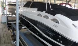 Beautiful Ebbtide 24' 2460 Ztrack deck boat. Powered by 300hp 350mag Mercruiser. Includes tandem axle trailer w/brakes, boat cover, stereo and more! Low hours! Hoist and slip available pending negotiations. Call for a showing or further details. Beam: 8