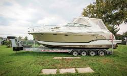 Here's a fantastic used boat that the whole family can enjoy. This used 2008 Formula 310 PC is clean and has been meticulously maintained. Features include a Load Master bunk trailer, bimini top, side curtains, camper canvas, Garmin GHC 10, compass, depth