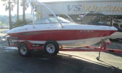 Great boat for a day of everything fun on the water. Wakeboard Tower, Bimini top, 4.3L V6, and much more. Call Shawn today for more details (805) 466-9058 or email shawn@vsmarine.com Engine(s): Fuel Type: Gas Engine Type: Stern Drive - I/O Quantity: 1