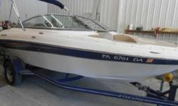 SALE PENDING TIL SPRING OUR OWN WARRATY IS INCLUDED, COMES WITH THE 190/200HP V6, TRAILER, NICE INSIDE AND OUT, INSPECTED AND LAKE TESTED, COVER INCLUDED, AVG BOOK VALUE, HIGH IS $16400, SO PRICED RIGHT, NO NEGOTIATING PLEASE, FIRM AS IS PRICING WITH