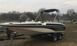 This boat is ready for the water. It's a beauty with plenty of space. Comes with bimini, full fitted cover and trolling motor. Don't wait.....it won't last long. Nominal Length: 20'