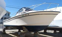 Clean, lightly used (150 hrs) on Yamaha 250 4 Stroke.With a freshly painted bottom, she is ready to launch. The ever popular Grady Seafarer is hard to find at any price. Excellent condition.This 2008 was not placed in service until 2010, and has Warranty