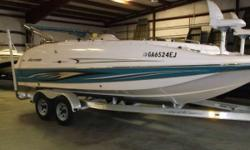 What do you want to do today? With the performance and versatility of the FunDeck GS, the possibilities are endless. Price Includes: 07 YAMAHA F150TXR 4 STROKE, and 11 MAGIC TILT TANDEM AXLE ALUMINUM TRAILER - 2008 HURRICANE FUNDECK GS 202 Nominal Length: