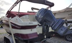 Deckboats offer extra interior space and good performance. This Hurricane has a windshield like a runabout, deep interior and even has the porti potti option. A complete package. This is a one owner, freshwater only boat sold and delivered by Arnolds