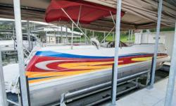 2008 JC Evolution 260 I/O The original fiberglass tritoon! JC was ahead of the game when they created the Evolution line, the first ever fiberglass toon and with stock inboard power. Boat has been well maintained and in beautiful condition. Feature rich,